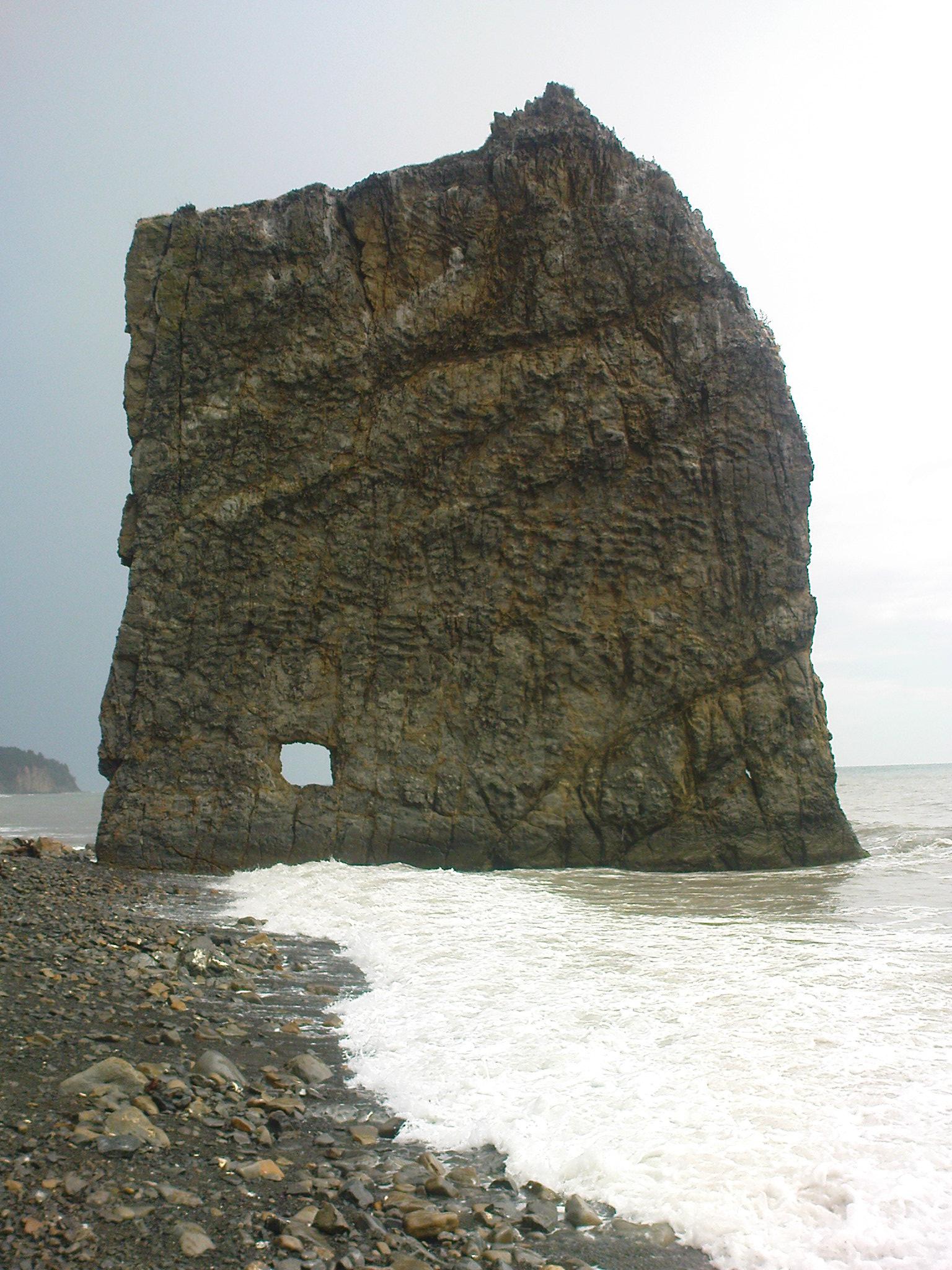 скала Парус Прасковеевка Черное море во время шторма