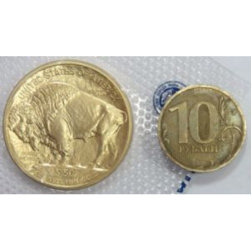 50-usd-gold-coin-buffalo-vs-10rub-revers